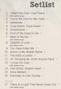 setliste - Morrissey