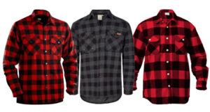 klassisk fleece foret flannel skjorte