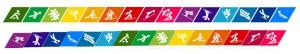 Øverst: OL - Nederst: regnbueagtig - Husk at rød altid skal være øverst