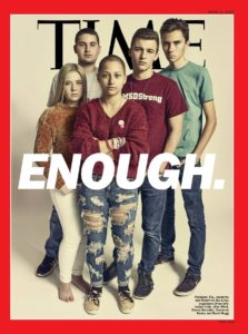 #NeverAgain movement leaders from Marjory Stoneman Douglas High School: Jaclyn Corin, Emma González, David Hogg, Cameron Kasky and Alex Wind.