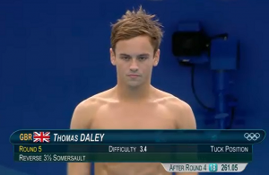 Le petit plongeur britannique Tom Daley