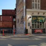 Vestergade 69 støttes nu af sandfyldte containere