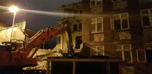 18.nov 2018: nedrivningen af Vestergade 55 er igang
