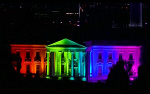 The White House is lit up in rainbow colours in commemoration of the US Supreme Court's ruling to legalise same-sex marriage - Source: Reuters Sat 27 Jun 2015