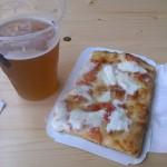 Buffalo mozzarella and tomatoes Pizza fra La Rossa