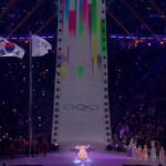 Den olympiske hymne og indbygget vind i flagstængerne!