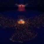 human fredsdue løsning (i Seoul 1988 fløj duerne ind i flammen)
