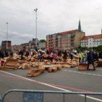 10 min senere - Rådhuset er destrueret
